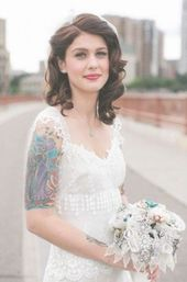 46+ ideas for hairstyles wedding shoulder length short #wedding #hairstyles
