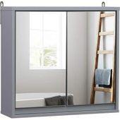 Spiegelschrank – weiß – mit Beleuchtung – 50 cm breit RollerRoller