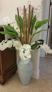 Welcome Spring 17 Great Diy Flower Pot Ideas For Front Doors Vase Arrangements Flower Vase Arrangements Large Floor Vase