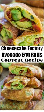 Cheesecake Factory Avocado Egg Rolls Copycat Recipe | Avocado Recipes – Food! Glorious Food!!