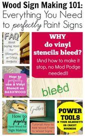 Wood Sign Making 101 – Alles, was Sie brauchen, um Schilder perfekt zu malen