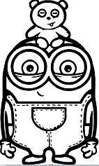 Cute Bob And Bear Minions Minions Coloring Pages Minion Coloring Pages Cute Coloring Pages