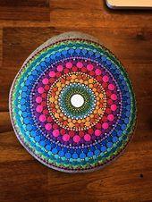 Handbemalter Mandala Stein