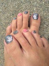 Zehennägel lackieren: Ab 35 Fuß Nageldesigns für den Sommer   – Nägel / Nails