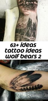 63+ Ideen Tattoo Ideen Wolf Bären 2