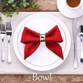 Impress your guests with these incredible napkin folds
