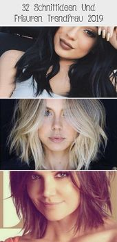 32 Cutting Ideas and Hairstyles Trend Woman 2019 – Hairstyles – #Hairstyles #Cutting Ideas #Trend #and #woman