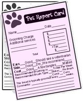 Pet Report Card Templates For Dog Groomers Dog Grooming Pet