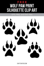 Free Wolf Paw Print Silhouette Clip Art Wolf Paw Print Wolf Paw Paw Print Drawing