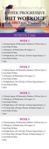 4 Week Home HIIT Workout For Absolute Beginners – HIITWEEKLY