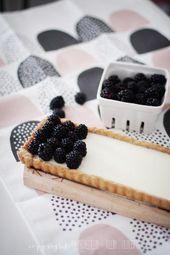 Blackberry Panna Cotta Tarte mit Pekannusskruste und etwas DIY – Torten Sommer