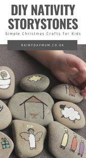 DIY Nativity Story Stones – Kid's Crafts + Activities