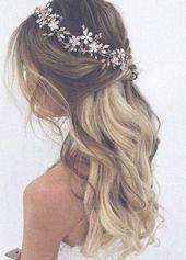 Bridal hair vine Bridal hair piece Gold Bridal hea…