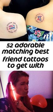 52 adorable matching best friend tattoos to get with your ride-or-die 13