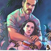 Stranger Things Chief Hopper and Eleven, David Harbour, Millie Bobby Brown, Season 3, fanart