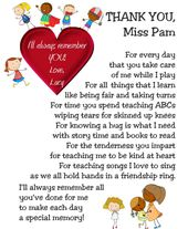 I Ll Always Remember Child S Thankyou Gift Etsy In 2021 Daycare Provider Gifts Daycare Gifts Preschool Teacher Appreciation