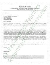 Secondary Teacher Cover Letter Sample  Letter Sample Teacher
