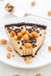 No-Bake Erdnussbutter Silk Oreo Pie – Eine einfache No-Bake-Torte mit einem knusprigen …   – Averie Cooks