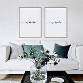 Einatmen, ausatmen Druck, minimalistischen Typografie Kunst, Pilates, Yoga Wandkunst Kunst, Entspannung, Geschenke, atmen Druck, Wandkunst, sofort-Download zu Hause