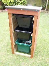 Bankmullaufbewahrung Halt Alles Rader Aufsetzen Die Feststellbar Sind Recycling Storage Storage Bins Garden Storage