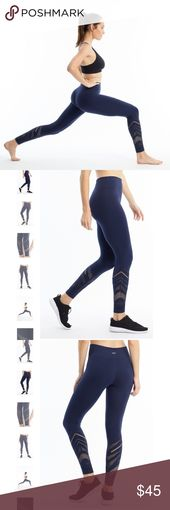NWT marika peacoat seamless long legging Dry-wik technology. Weave in pattern. 88% polyester 12% spandex. Seamless construction prevents chaffing. Nev…