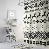 Weihnachts-Duschvorhang, Bauernhaus Chic Badezimmer Dekor   – ♥ ETSY