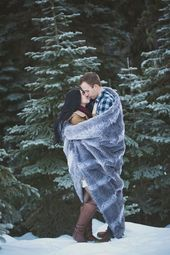 Snowy Engagement Session by White Album Weddings