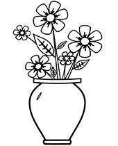Desenho De Flores Em Vasos Para Colorir Pesquisa Google With