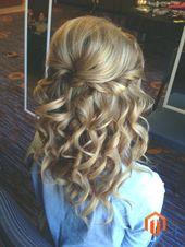 – – Half-open hairstyles – – Bride hairstyle – #Bride #Hairstyle #Hairstyles #Half-open