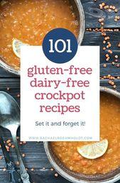 Glutenfreie, milchfreie Crockpot-Rezepte setzen und vergessen; #mealsgl …   – Gluten Free