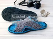 CROCHET PATTERN – men clogs,slippers,scuffs,slip ons,loafers,footwear,adult,men,teen boys,gift for him,summer,basic stitches