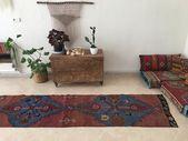 Extra Lange Laufer Vintage Turkische Teppich Flur Teppich