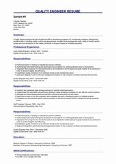 Mechanical Engg Resume Sample New 3 Quality Engineer Resume Samples Di 2020