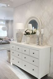 This hallway looks great. Love the use of an IKEA Hemnes dresser here. – #Dresse