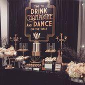 Great Gatsby Party Decorations & Ideas For A DIY Gatsby Theme Birthday