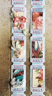 Handmade Journals New in my #etsy shop: Embellished tickets - junk journal embellishments, scrapbo...