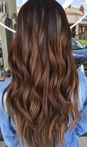 Erstaunliche braune Haarfärbung #brownhairbalayage   – brown hair balayage