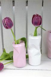 DIY Blumenvase aus alten Dosen – geniale Recycling / Upcycling Idee – Alle DIYs von DIYCarinchen