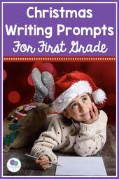 Diese Weihnachtsschreibaufforderung wird Ihre Erstklässler aufregen über … – First Grade Literacy Activities