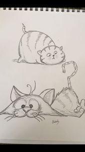 Katzen, Comic   – Kunst Ideen