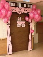 Baby Girl Welcome Decoration Girl Baby Shower Centerpieces Baby Door Decorations Baby Door Wreaths