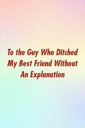 An den Kerl, der meinen besten Freund ohne Erklärung verlassen hat – Relationship Couple