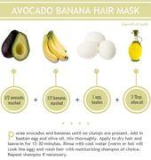 4 All Natural Homemade Hair Masks Avocado Hair Mask Banana Hair Mask Banana For Hair