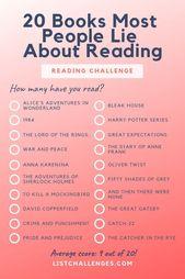 20 Bücher Die meisten Leute lügen über Lesen – Wie viele haben Sie tatsächlich gelesen