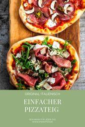Pizzateig selber machen – Grundrezept mit Trockenhefe