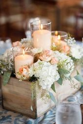 Rustikale Hochzeitsdekoration für die Landzeremonie Weitere Informationen: www
