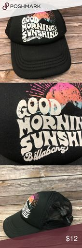 Billabong SnapBack mesh trucker hat morning skater Great hat Some intentional we… – My Posh Closet