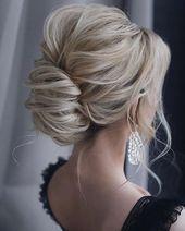 44 Trendige Hochsteckfrisuren für mittellanges und langes Haar, #Hair #Long #MediumLength #Trendy #Upd …   – Frisur