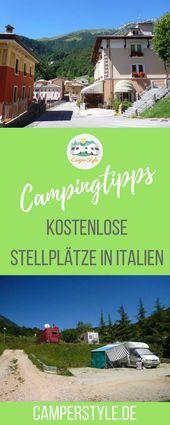 Cinq places de parking gratuites en Italie   – CAMPER und WOHNMOBIL Reisen  > Tipps für Reiseziele