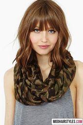 Medium long hair with bangs   – Kosmetik & Co.